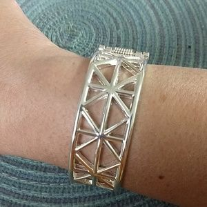 Avon Jewelry - Cuff Bracelet Lattice Silvertone
